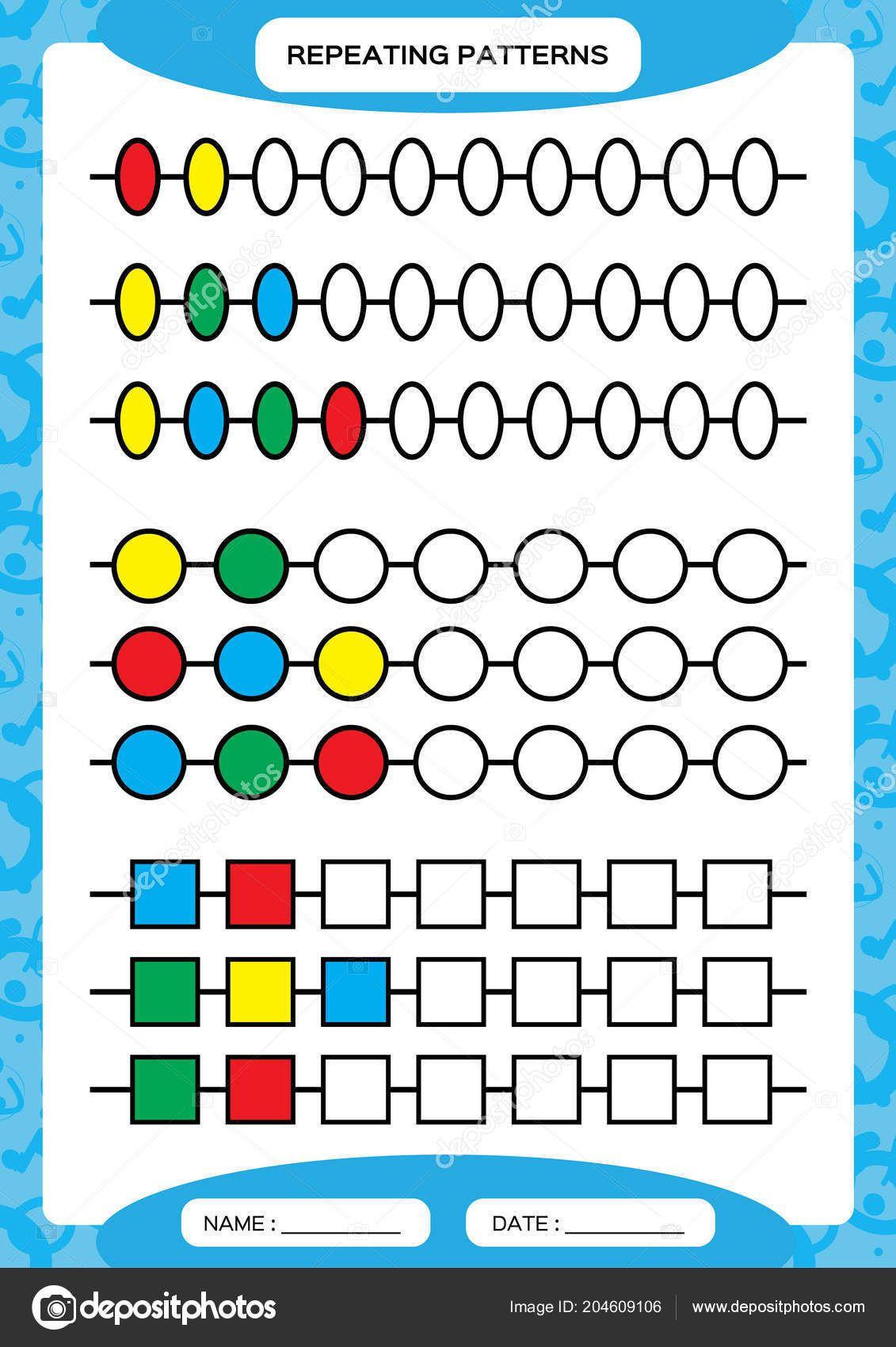 Descargar Patrones De Repetición Completados Hoja De T Juegos De Matemáticas Preescolares Actividades De Matematicas Actividades De Matemáticas Preescolares