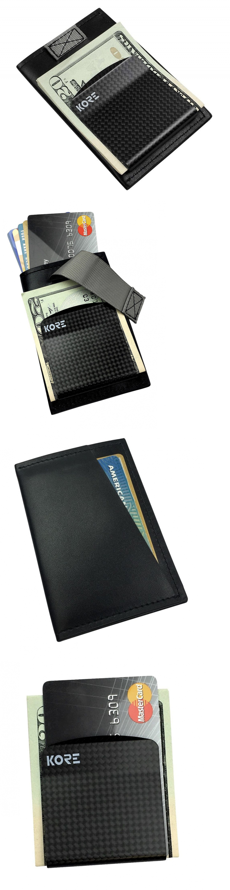 3eb2903b293 Money Clips 163583  Kore Slim Wallet + Carbon Fiber Money Clip  Rfid  Blocking