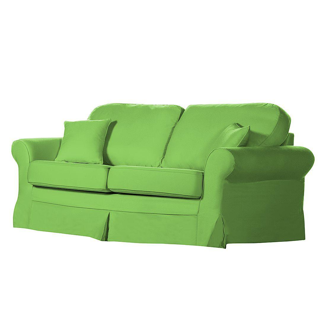 Sofa Louanne 3 Sitzer Baumwollstoff Grun Ridgevalley Jetzt