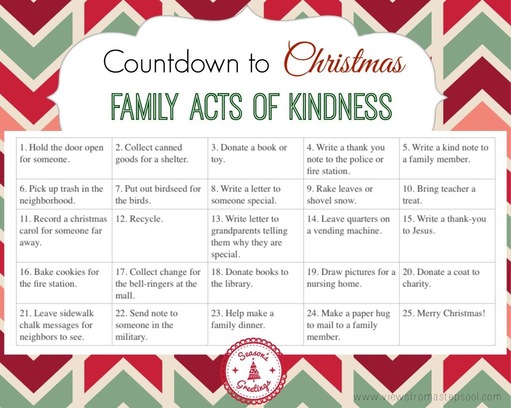 Free Printable Acts Of Kindness Calendar Counting Down To Christmas Perfect To Use With An A Diy Advent Calendar Christmas Advent Calendar Christmas Calendar