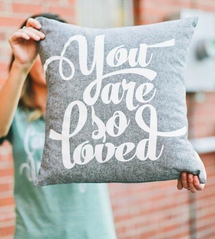 So Loved Linen Pillow