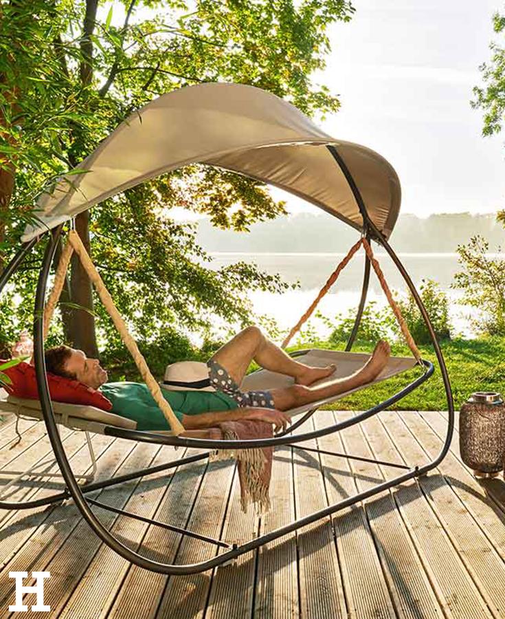 gartenliege schaukel elegant keros mit dach liege sonnenliege schaukel gartenliege relaxliege. Black Bedroom Furniture Sets. Home Design Ideas