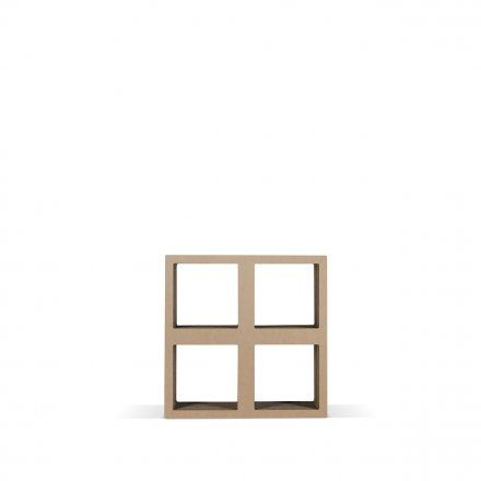 #16BIT #cardboard #style Use 16 BIT as bookcase as well as assembled with the other modular elements to fit your own solution, or combine it as a chest of PIXEL drawers. #modular #component #cardboard #drawer #bookshelf