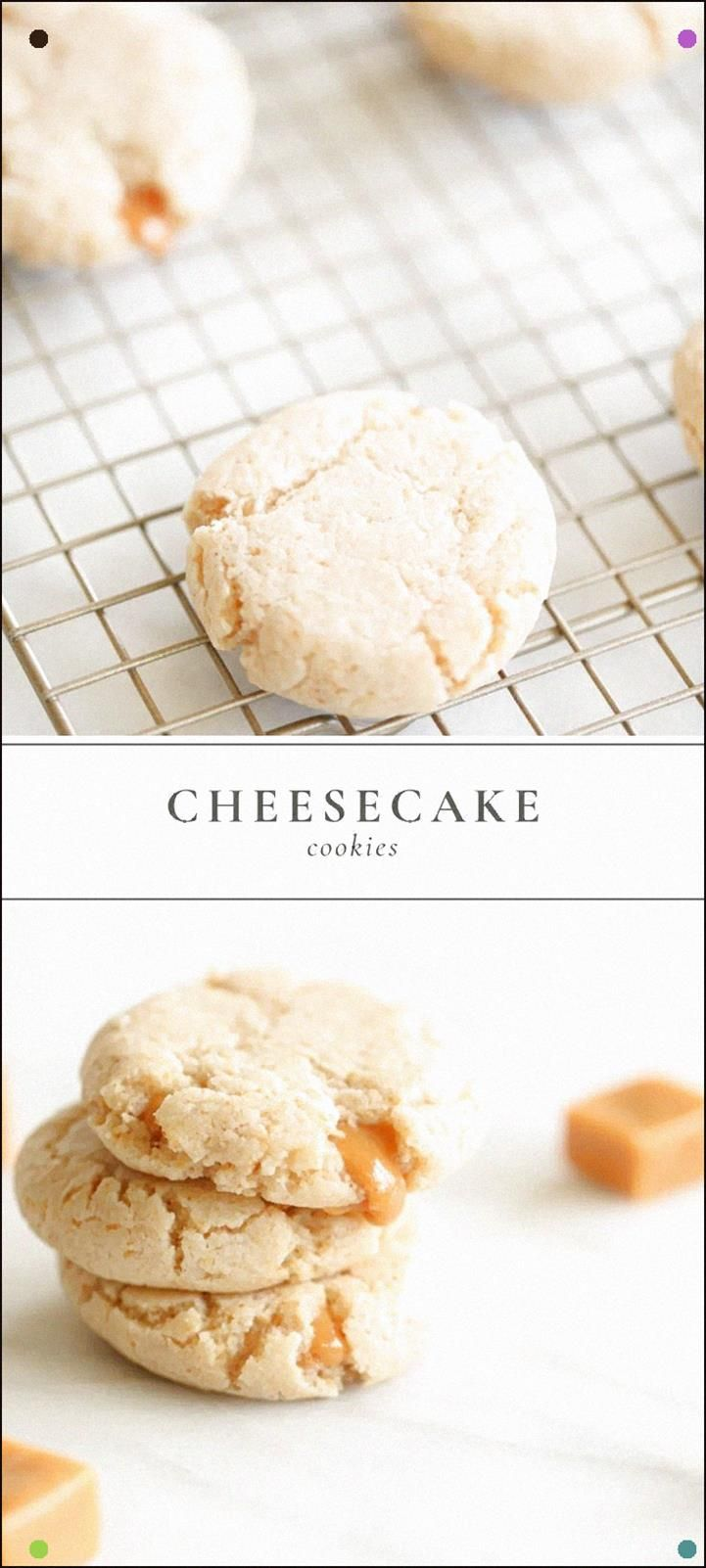 These Gooey Cheesecake Cookies With Caramel Are Everything You Need In Your Life Its Just Like A Caramel Cheesecake In BiteSize Pieces Keep Reading For The Must Have Cara...