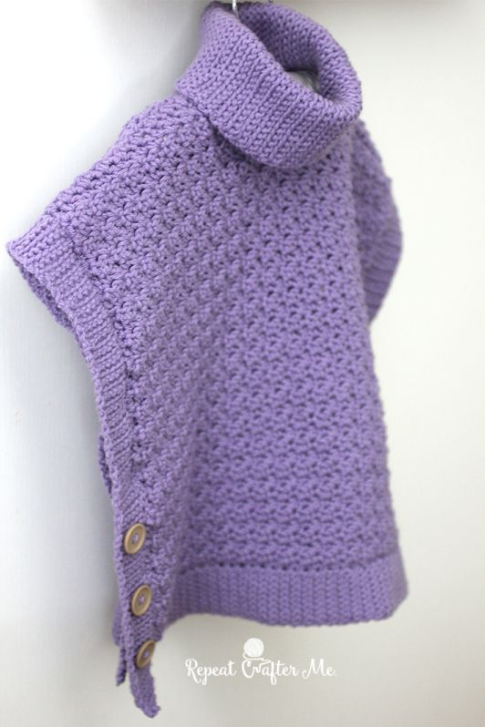 Yarnspirations Crochet Poncho For You and Me and Giveaway | Vests ...