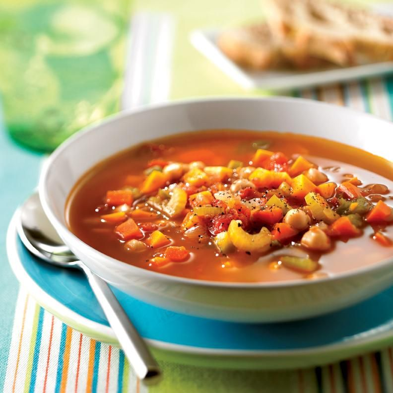 Soupe repas aux l gumes et aux pois chiches soupe - Cuisiner des pois chiches ...