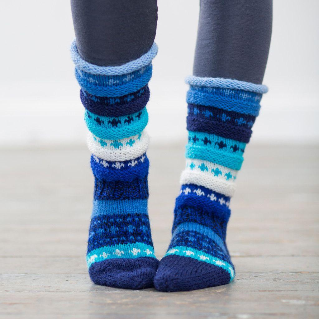Photo of Rainbow Socks (Mountain) – Oppskrift | Hillesvåg ullfabrikk