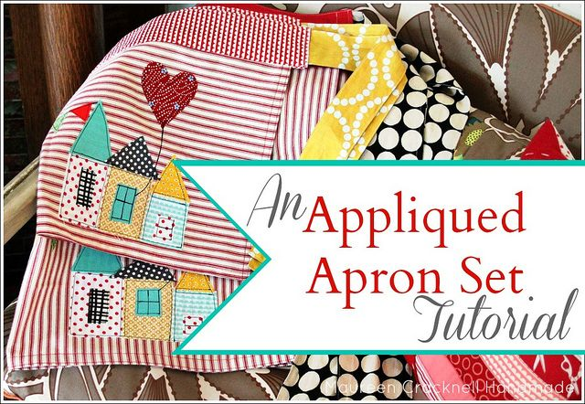 An Appliqued Apron Set Tutorial for the Therm O Web Blog by Maureen ...