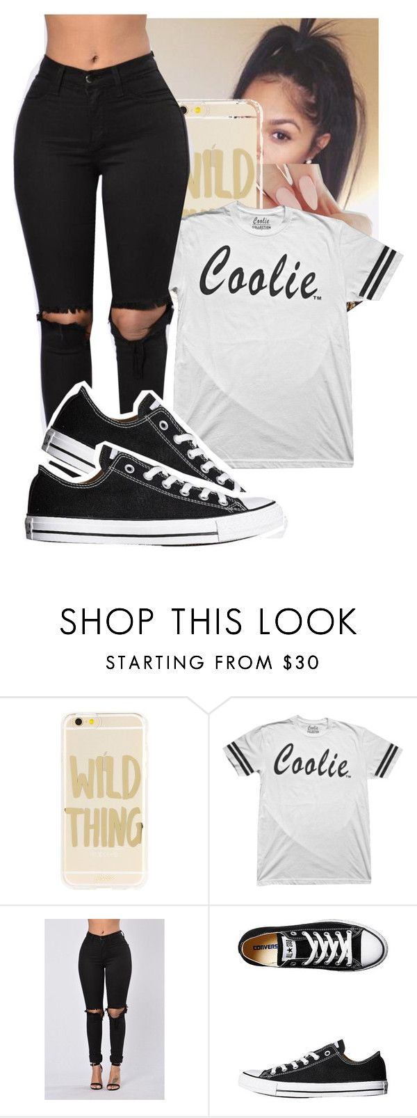 """P.Y.T-Wale ft Sam Sneak"" by papilucas ❤ liked on Polyvore featuring Sonix and Converse"