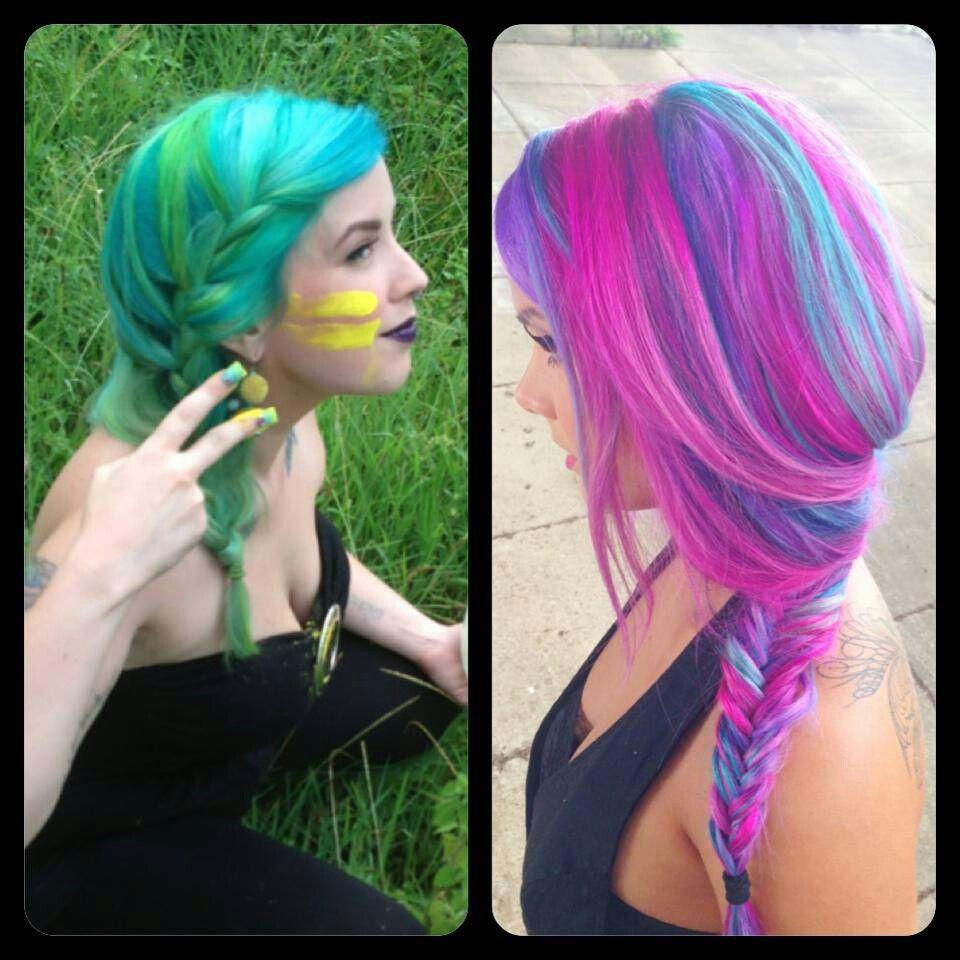 vivid artistic hair design pretty