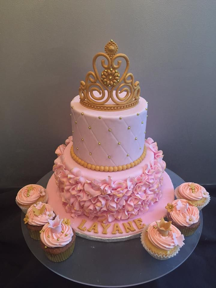 Gâteau Princesse Gâteau Anniversaire Fille Gâteau Couronne