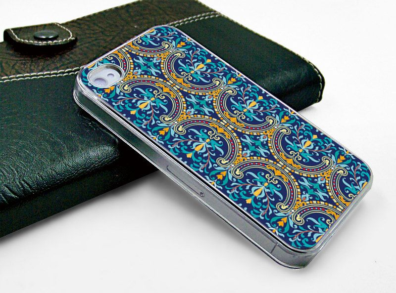 Iphone case iphone 4 case iphone 4s case iphone 4 transparent case cover beautiful colorized flower  design printing. $13.99, via Etsy.
