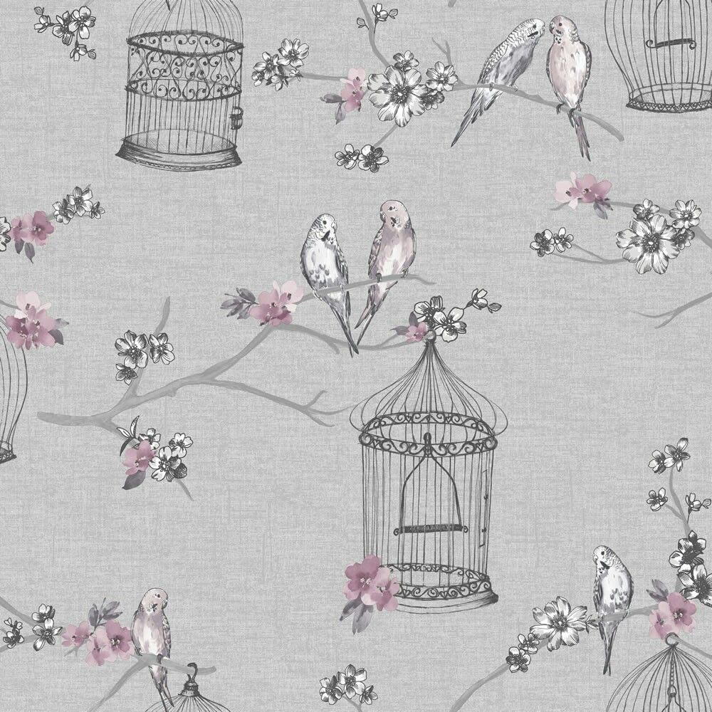 Found This Beautiful Wallpaper In Wilkinsons Birds And Cage Wallpaper Teal Wallpaper Bird Wallpaper Feature Wall Wallpaper