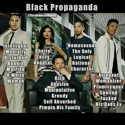 This is propaganda 101, the blind and ignorant need to realize what you are watching.. If you are black and watch this garbage.