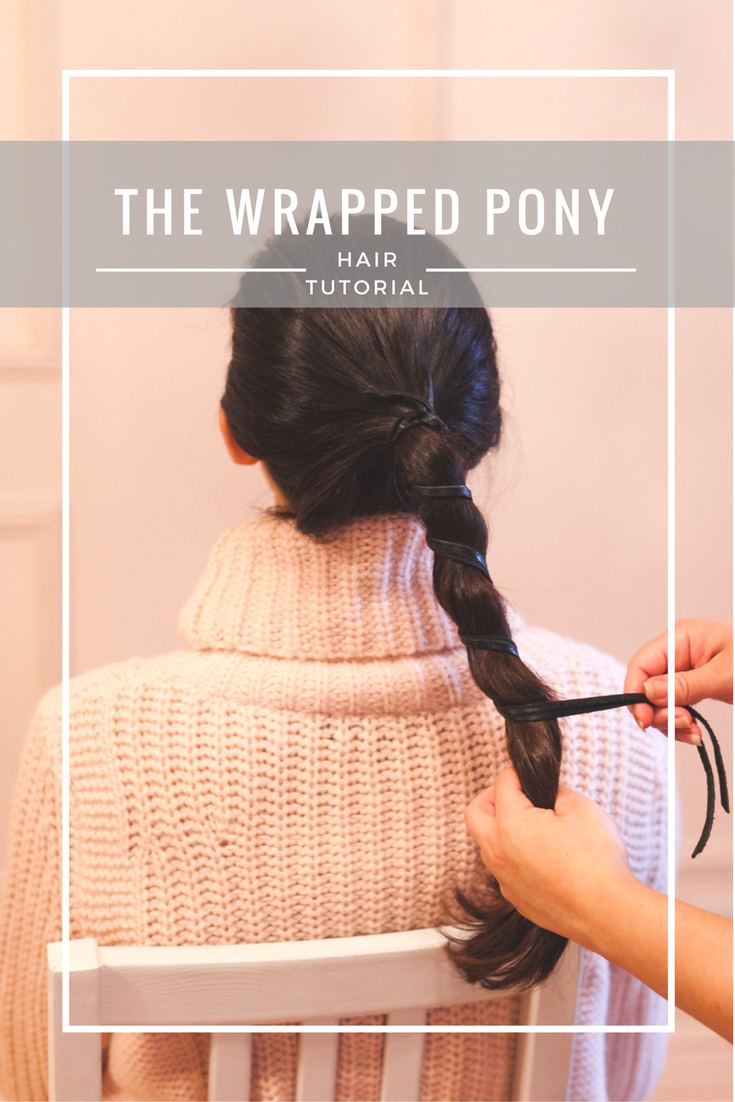 Chic + Fast Wrapped Ponytail Hair Tutorial | If you're on a quest for a quick and stylish 'do, you'll love our re-imagined pony for both lazy days and ultra-busy mornings.