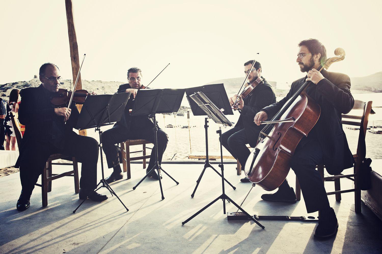 www.mykonos-weddings.com String Quartet, wedding music, wedding party, wedding in Mykonos,