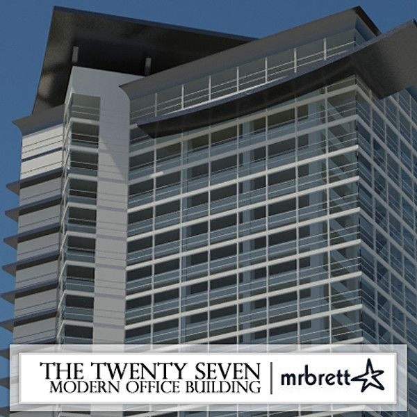 3D Model Modern Office Building - 3D Model 3D-Modeling Pinterest