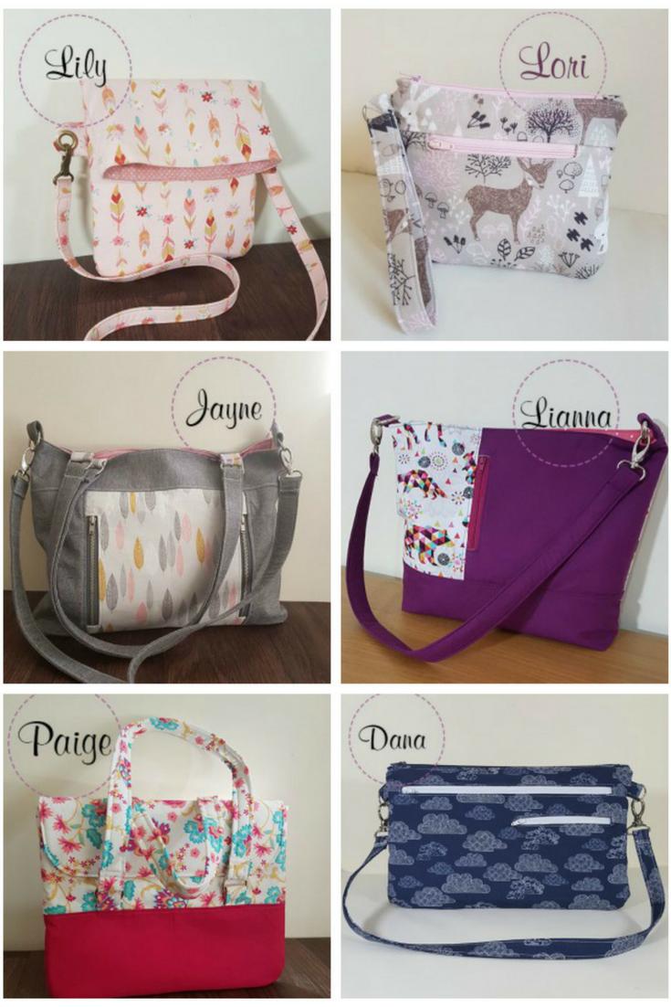 PDF bag sewing patterns available on Lorelei jayne | sew bags ...