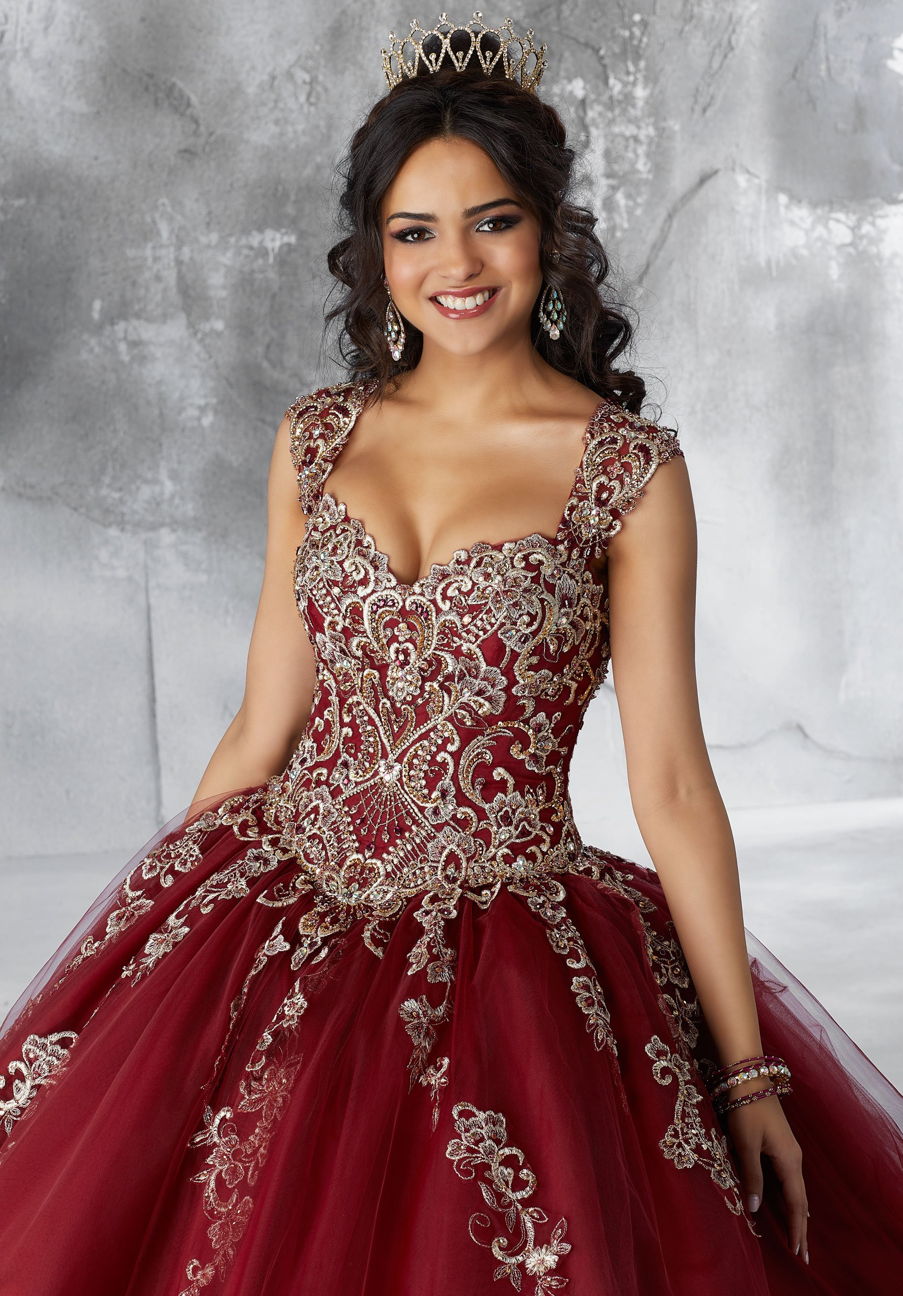 Bead embroidered quinceanera dress by mori lee vizcaya in