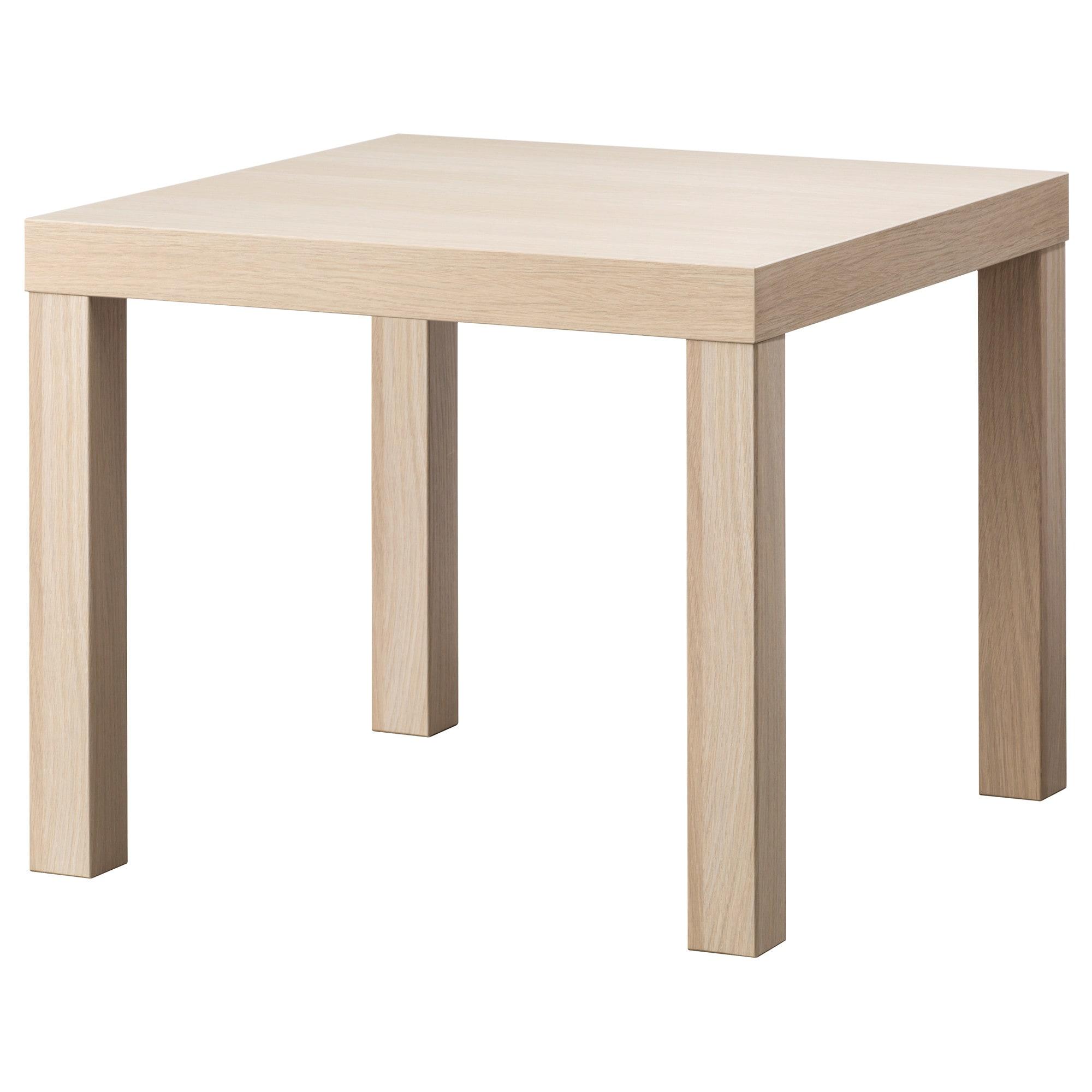Lack Stolik Bialy Dab Bejcowany Na Bialo 55x55 Cm Ikea Pomysly Ikea Stolik