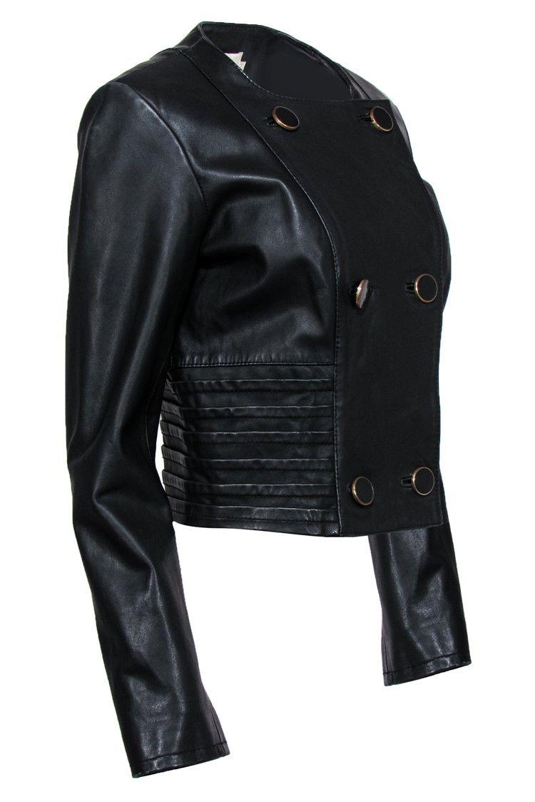 Reiss Black Paneled Leather Jacket Sz 8 Ad Ad Paneled Black Reiss Sz Jacket Jackets Leather Jacket Fashion [ 1124 x 750 Pixel ]