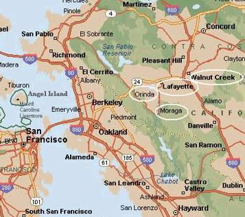 Contra Costa County Inbound Environments Pinterest - Map of contra costa county ca