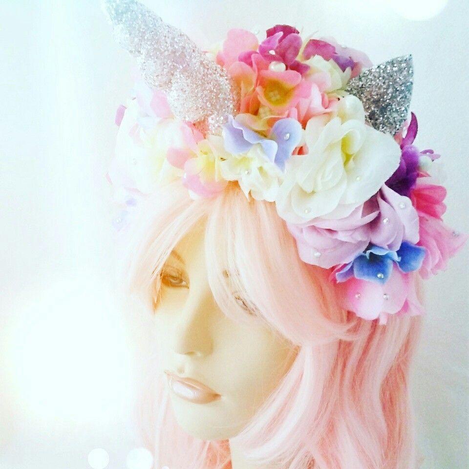 Unicorn headband headdress flower crown photo mediatown 360 unicorn headband headdress flower crown photo prop birthday party hat bubble gum goth unicorn unicorn unicorn izmirmasajfo