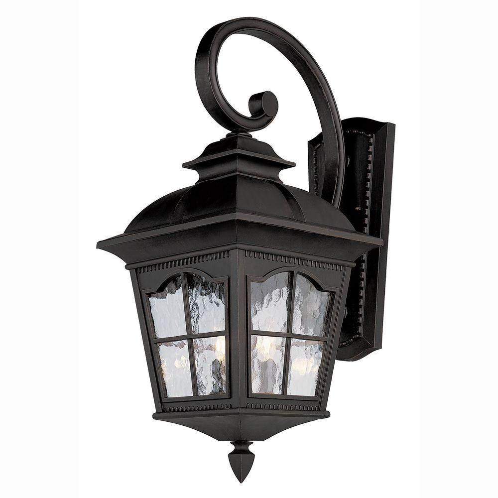 Bel Air Lighting Bostonian 2 Light Outdoor Black Coach Lantern Sconce With Water Glass 5429 Bk Wall Lantern Outdoor Wall Lantern Bel Air Lighting