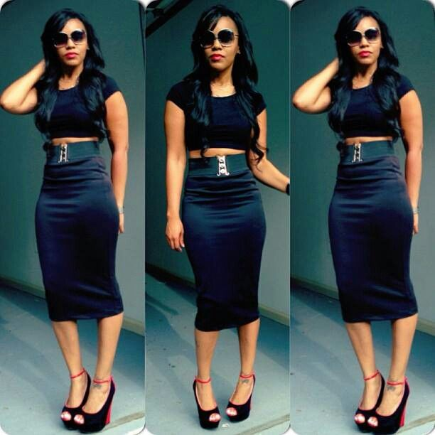 Crop-Top, High Waist Pencil Skirt | RISOLFATI StyLin-n-ProfiLin ...