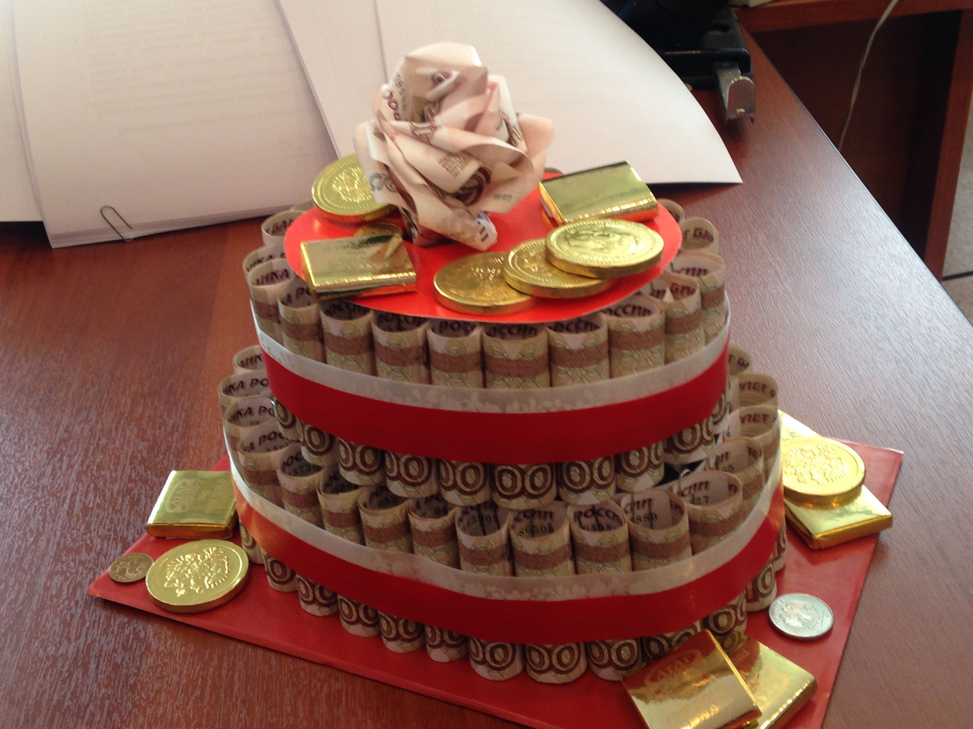 поздравления про денежный торт прикольные для веселой