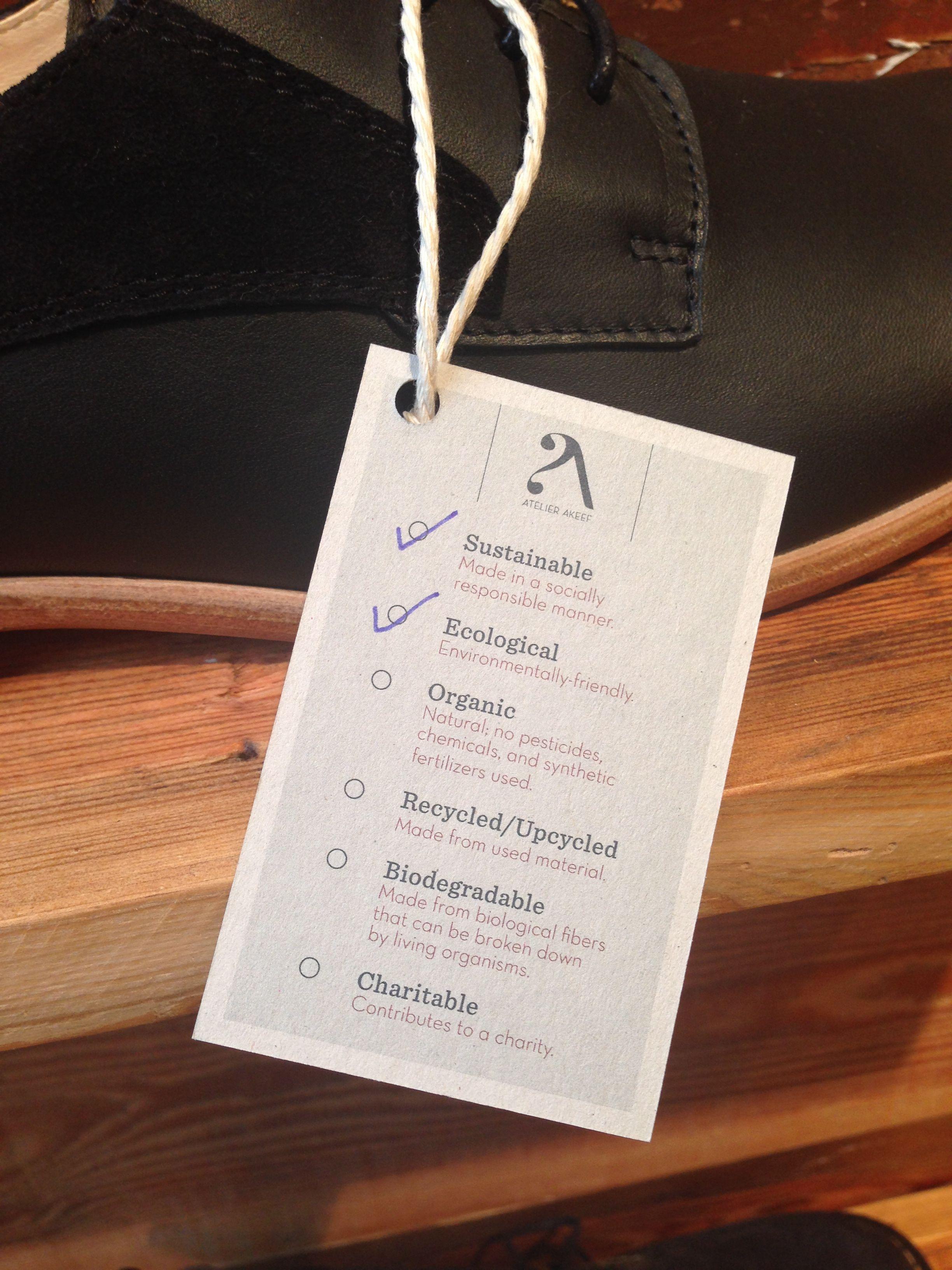 Atelier Akeef tag. @Christie R Akeef #sustainable #ecofashion. www.la-leaf.com