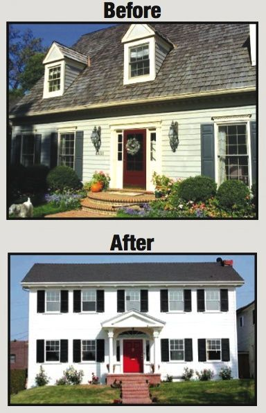 Cape to colonial conversion total cost 100 000 for Cape cod house renovation