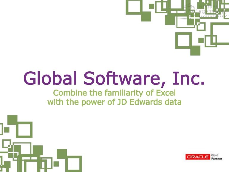 Automated JD Edwards Excel Reporting, Budgeting and Distribution