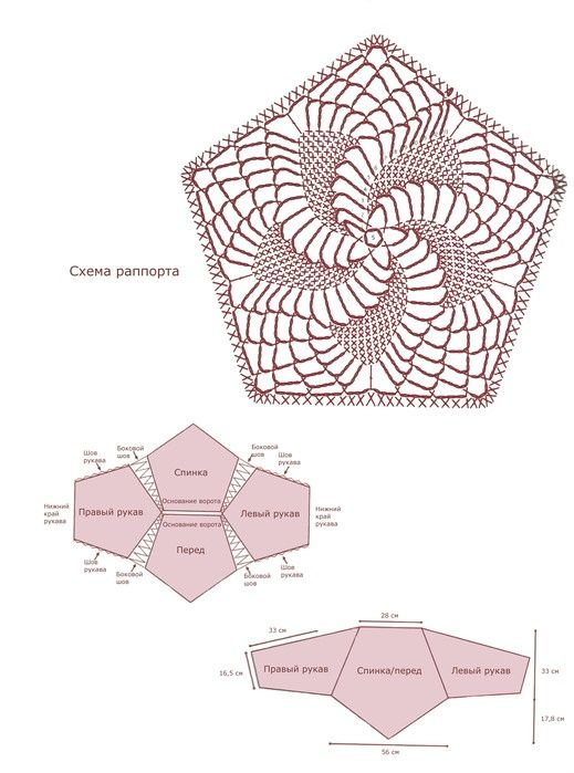 Patrones para Crochet: Jersey Punto Flor Espiral Patron | Crochet 13 ...