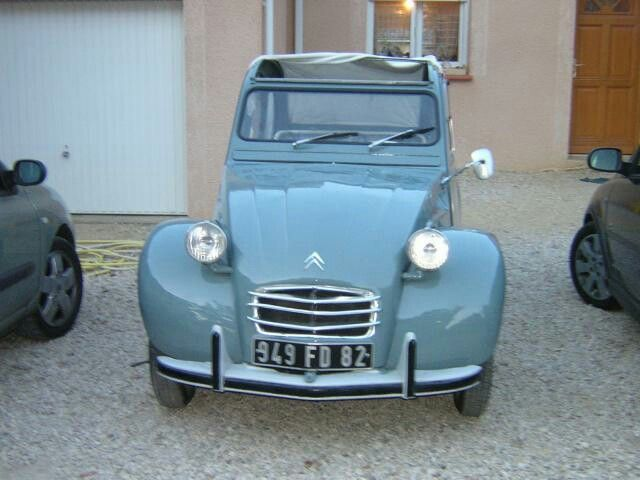 Ac609 Bleu Neve 2cv Citroen 2cv