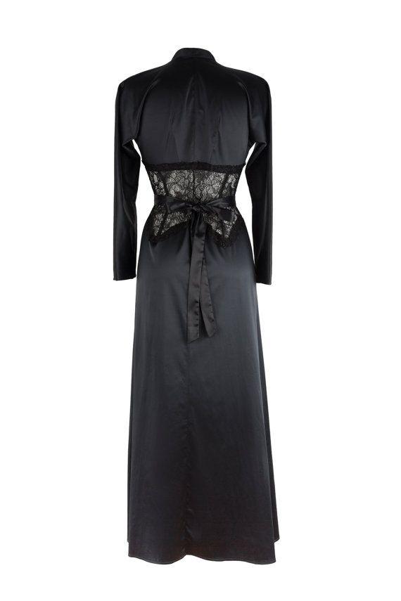 Designer Bademantel Damen damen bademantel schwarze robe morgenmantel inspiriert marilyn