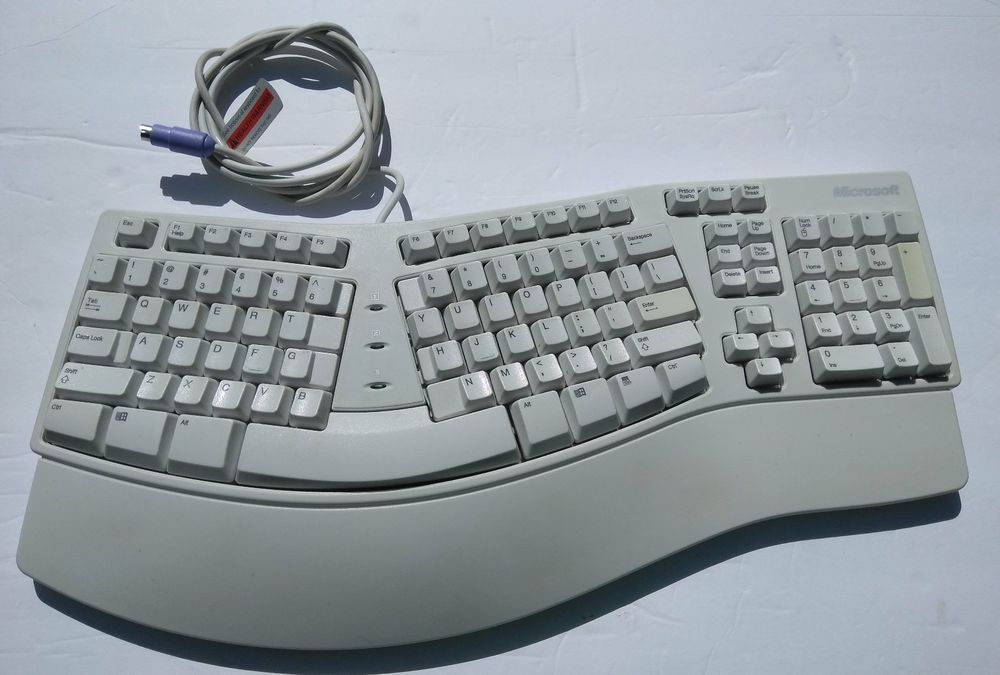 Microsoft Ergonomic Natural Keyboard Elite Ku 0045 Wired Ps 2 X06 19331 Tested Microsoft Keyboard Ergonomics Microsoft