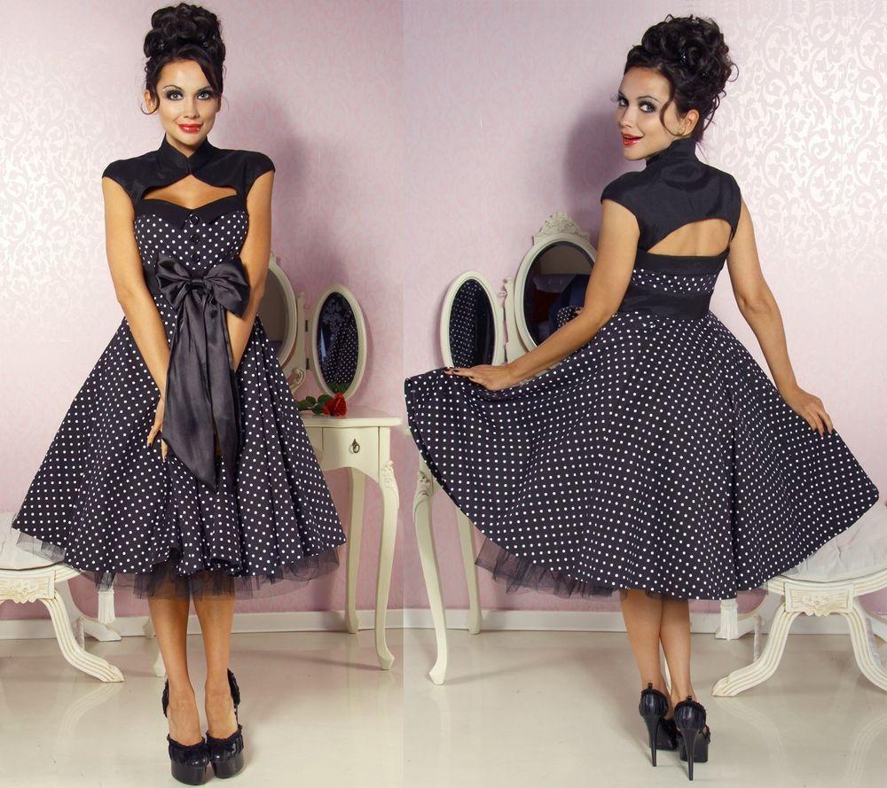 50er jahre pin up vintage rockabilly kleid tanzkleid petticoat rock in kleidung accessoires. Black Bedroom Furniture Sets. Home Design Ideas