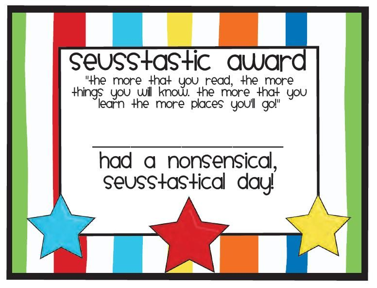 Dr Seuss certificate for kids! Dr Seuss Pinterest Dr seuss - graduation certificate