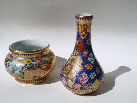 Vintage Small Porcelain Hand Painted Golden by NewGrooveVintage, $17.00