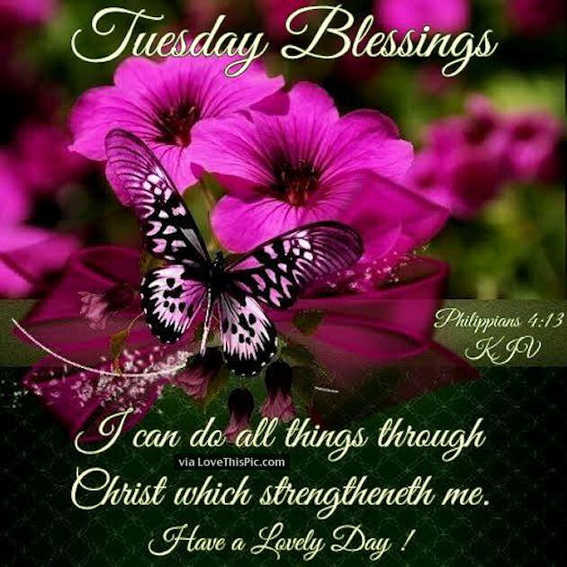 tuesday blessings images   Tuesday Blessings Religious Quote