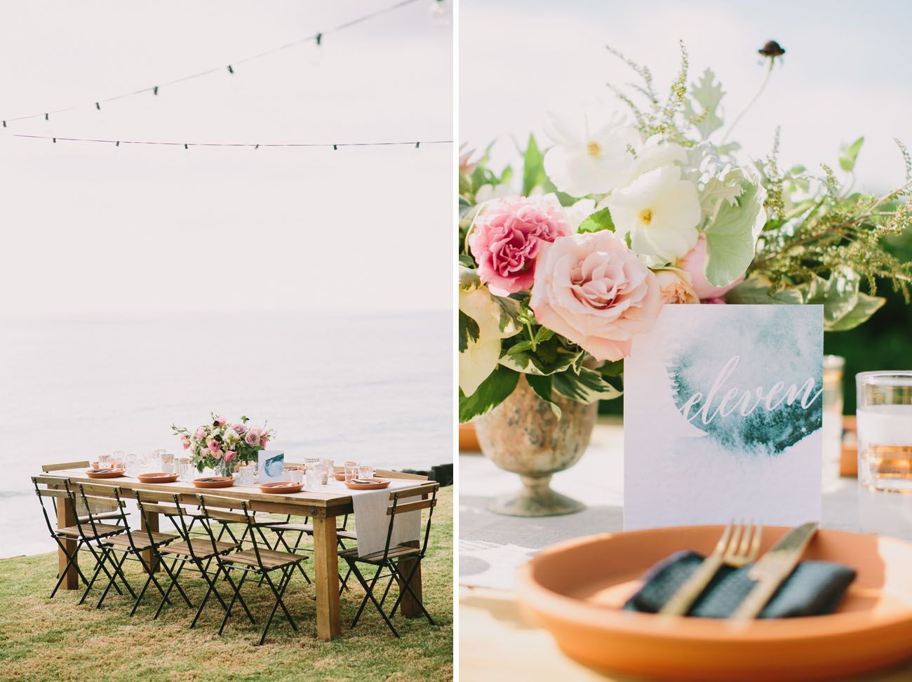 Modern Ocean View Wedding
