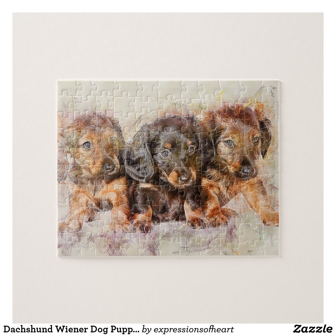 Dachshund Wiener Dog Puppies Jigsaw Puzzle Zazzle Com Dogs