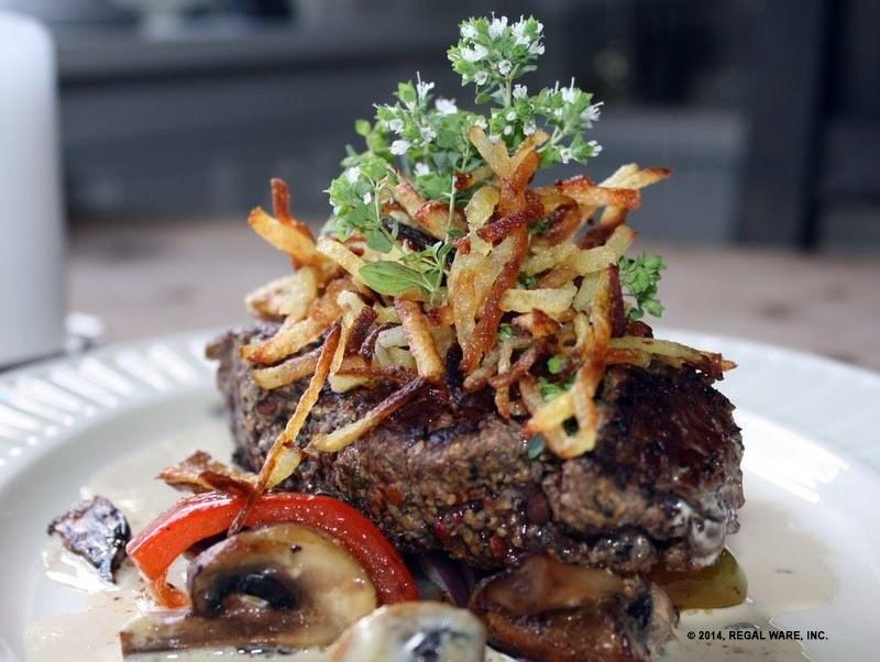 Pepper Steak in Mushroom Sauce