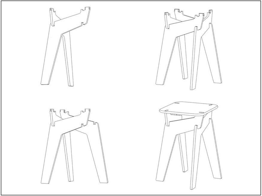 Twist Mobilier Design Easy To Assemble Designenvue Mobilier Motif De Design Bricolages En Bois