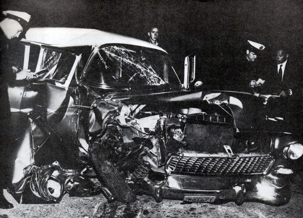 accidente de coche de Montgomery Clift en 1956