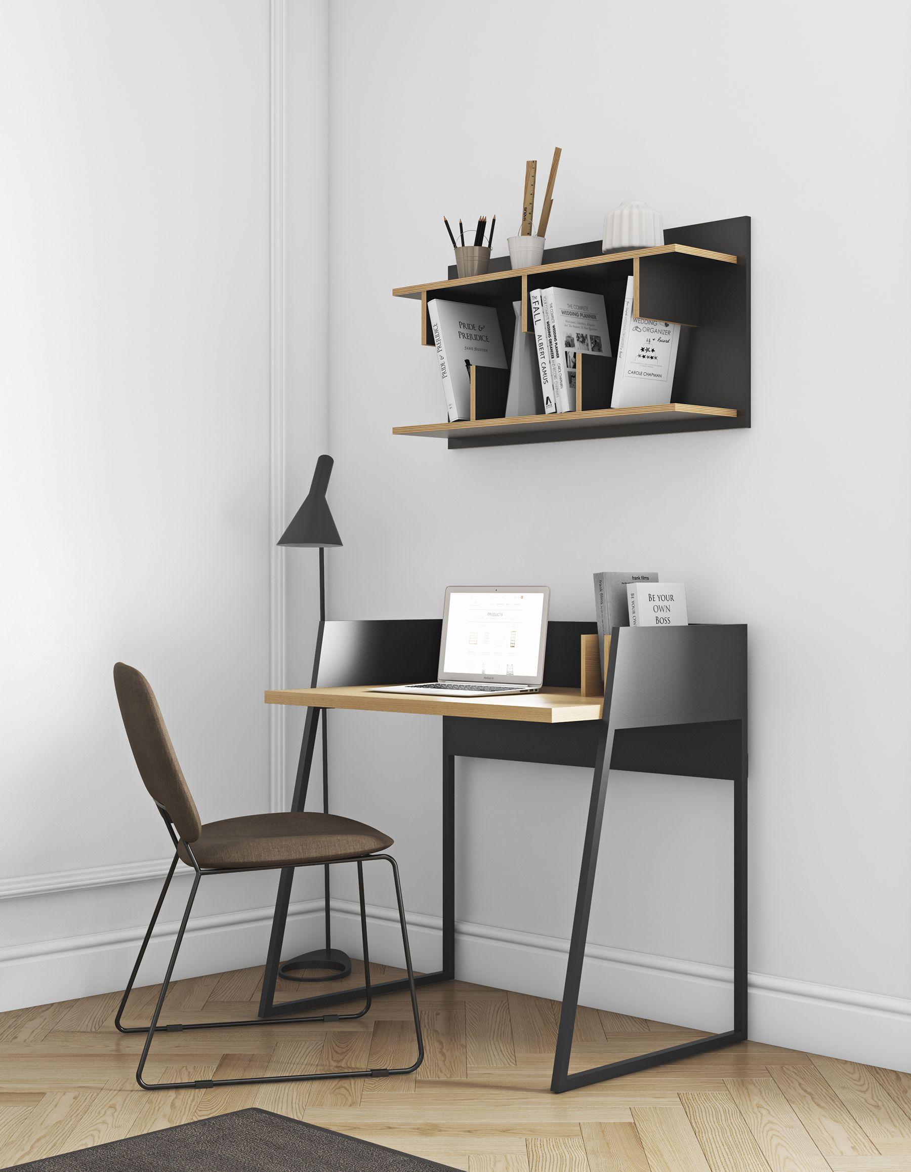 Einzigartiger Schreibtisch Von Temahome In Schwarz Eiche Der Simplizistische Urbane Style Fügt Sich In Büro Sowie Ho Schreibtischideen Haus Deko Bürotisch