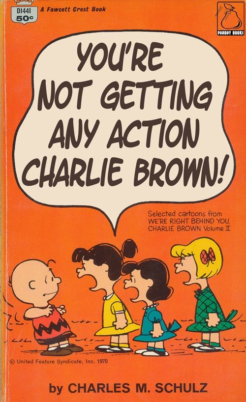 Paperback Charlie Brown, Parody of Peanuts Comics Paperback Covers
