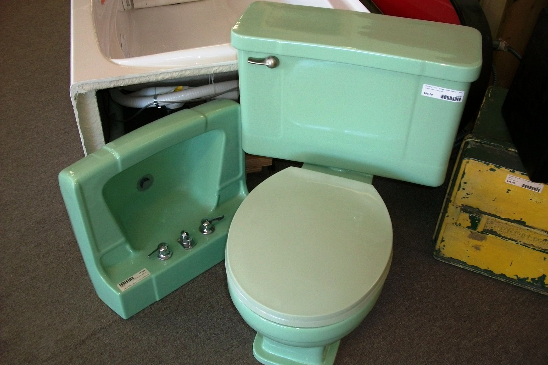 Vintage Mint Green Toilet And Sink We Have Lots Of Colors
