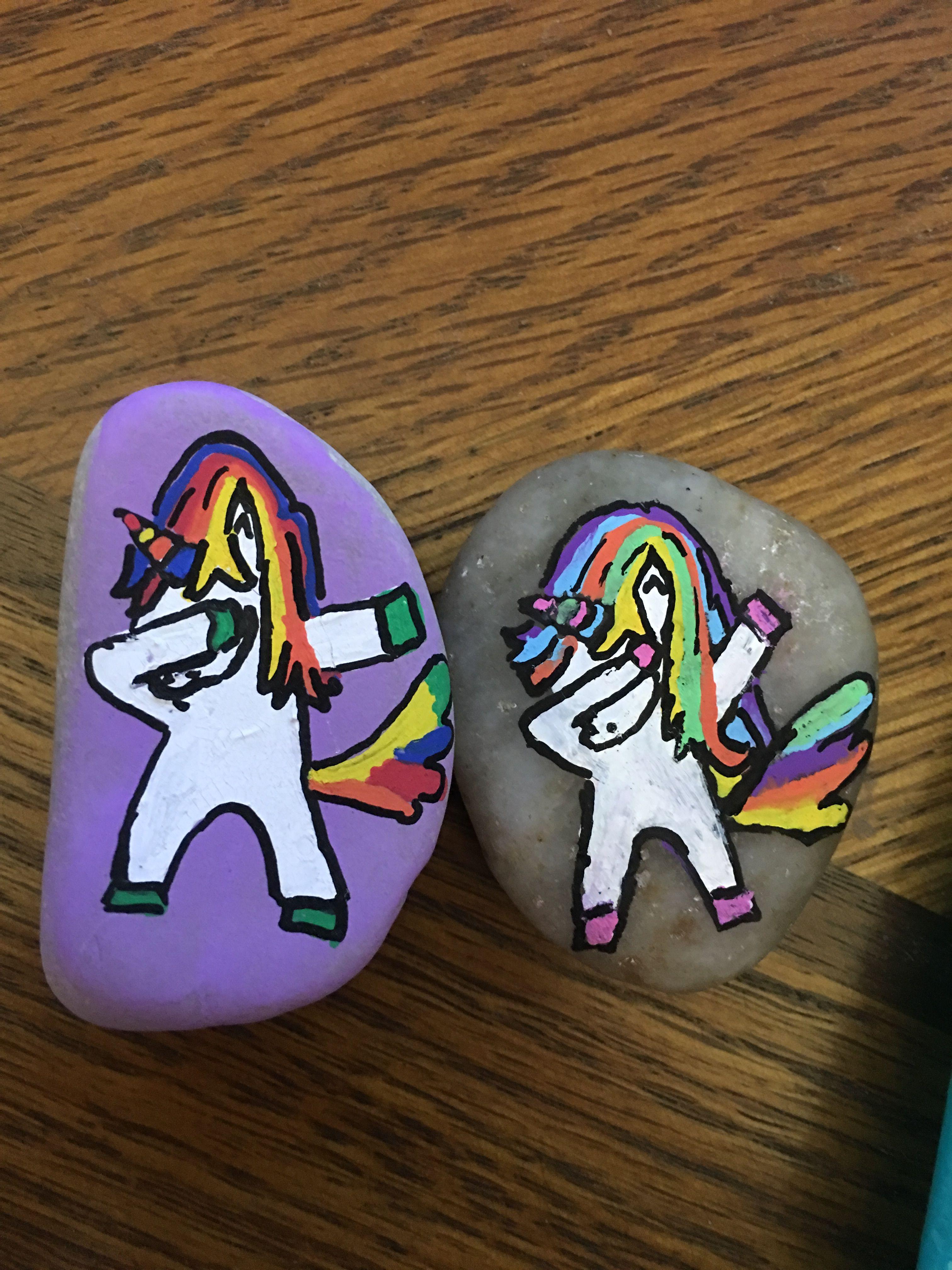 Dabbing unicorns yes please posca paint pens used